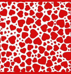 red purple heart seamless pattern of the icons vector image