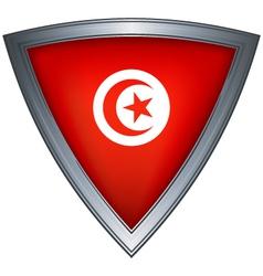 steel shield tunisia vector image vector image