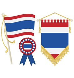 thailand flags vector image