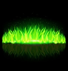 wall of Fire Green 01 vector image vector image