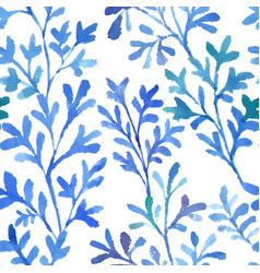 watercolor blue flora vector image vector image
