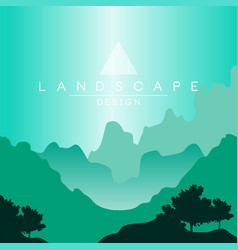 beautiful peaceful mountainous terrain at day time vector image