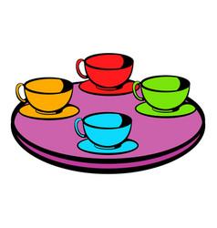 coffee-cup carousel icon icon cartoon vector image