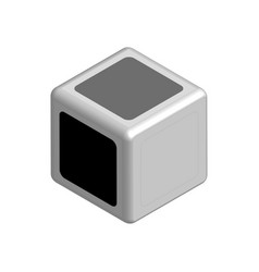 dice concept black or white in 3d vector image vector image