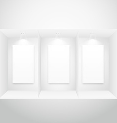 display window with picture frame vector image