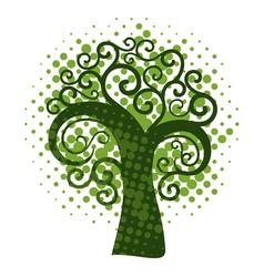 Grunge swirly tree vector