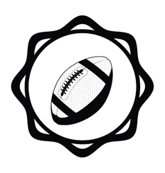 Isolated ball of american football design vector image