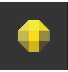 T Letter the form of abstraction yellow vector image
