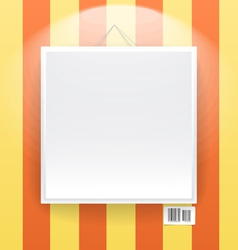 Blank frame on the wall of line wallpapers vector image vector image