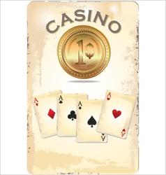Casino poster vector image