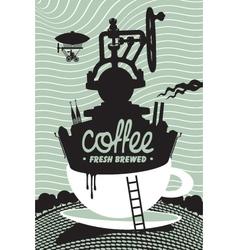 fresh coffee preparation vector image