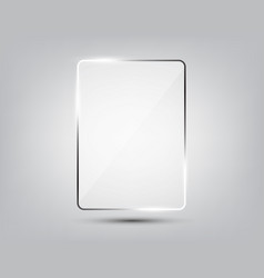 glass plate on gradient background vector image