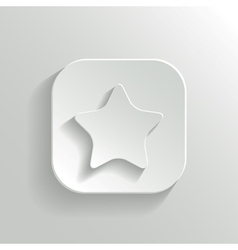 Star icon - white app button vector image vector image