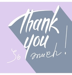 Thank you hand lettering card vector image vector image