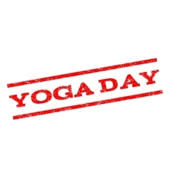 Yoga Day Watermark Stamp vector image vector image