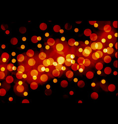abstract red yellow bokeh night background vector image vector image