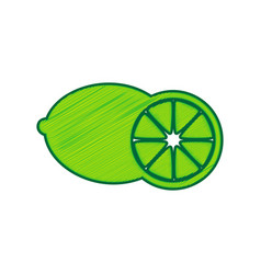 fruits lemon sign lemon scribble icon on vector image