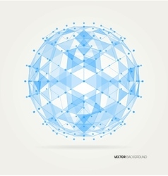 Abstract geometric technology design vector image