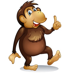 An old monkey standing vector image