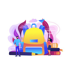 back to school outfits concept vector image