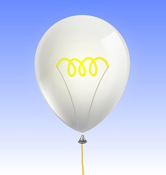 Balloon in the form of an incandescent lamp vector