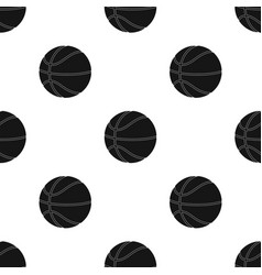 Basketballbasketball single icon in black style vector