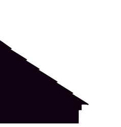Black housetop little house roof abstraction vector