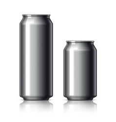Black shiny aluminum cans vector