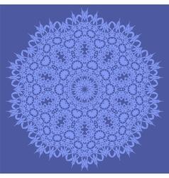 Blue Ornamental Seamless Line Pattern vector