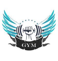 Bodybuilding and fitness symbol vector