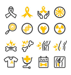 Bone cancer icon vector