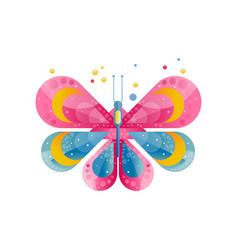 bright icon of butterfly with gradients and vector image