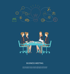 business meeting partnership and brainstorming vector image vector image