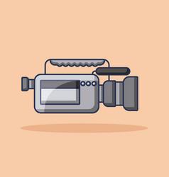 camcorder film movie video audio device vector image