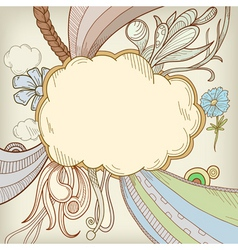 cartoon cloudscape vector image vector image