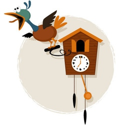 Cartoon cuckoo clock vector image
