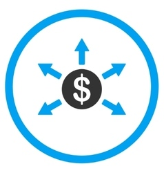 Cashout Flat Icon vector image