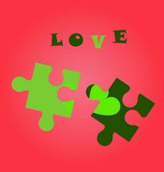 Cheerfully colorful heart shaped puzzle graphic vector