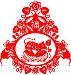 Chinese new year rat 2008 vector image