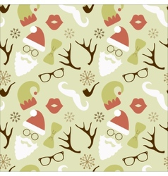 christmas hipster retro seamless pattern vector image