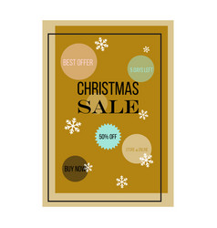 christmas sale poster design vector image