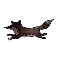 Comic cartoon running wolf vector