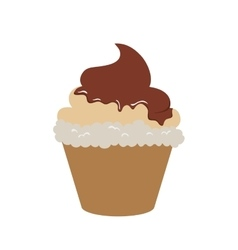 Cupcake dessert cute sweet icon graphic vector
