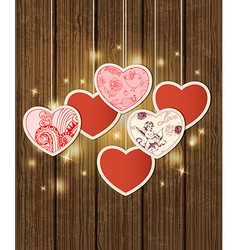 Decorative background with hearts vector