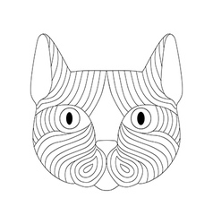 Decorative face of striped cat vector image