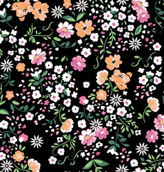 Delicate floral seamless background vector