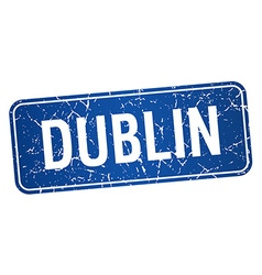 Dublin blue stamp isolated on white background vector