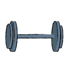 Dumbbell weight gym equipment image vector