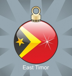 east Timor flag on bulb vector image