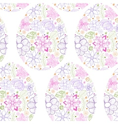 Easter eggs flowers background vector image